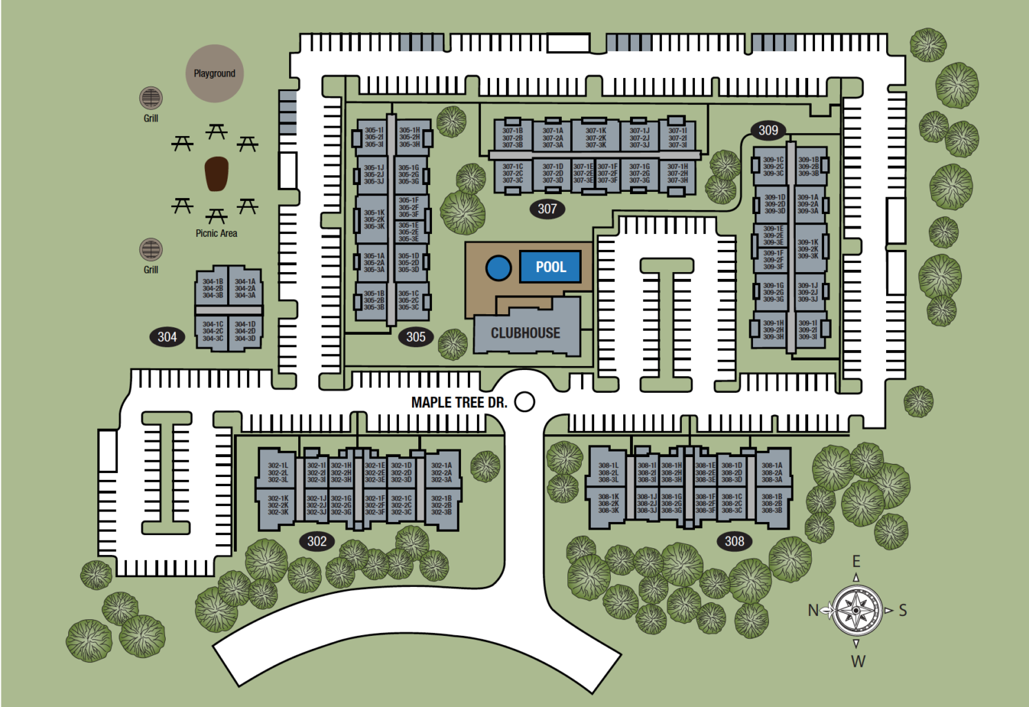 TGM Creekside Village Apartments Map