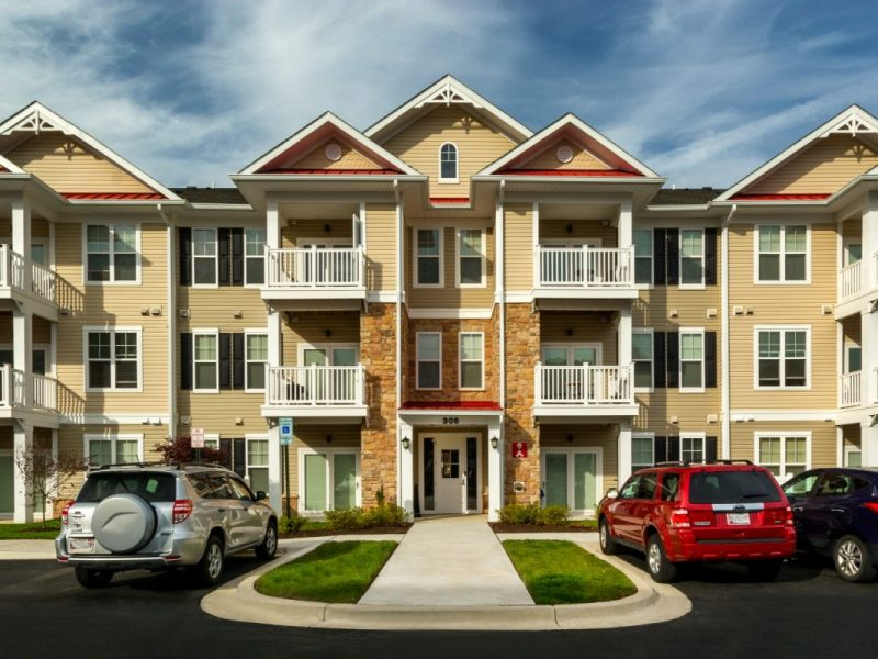 This image shows an outdoor view of TGM Creekside Village Apartments.
