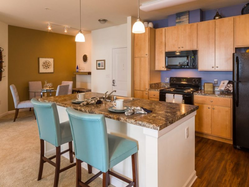 TGM Creekside Village Apartments Kitchen Island